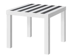 Kwadratowy stolik kawowy biały