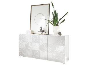 Biała komoda z półkami do salonu VERO KOMODA 3 połysk