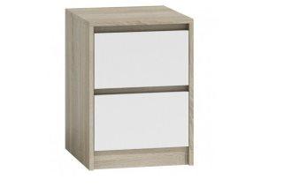 Klasyczna szafka nocna do sypialni - stolik nocny jasny