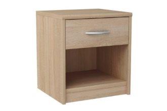 Klasyczna szafka nocna z szufladą jasna