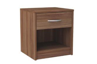 Klasyczna szafka nocna z szufladą śliwa