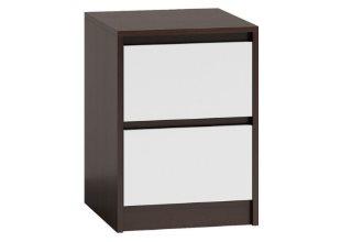 Klasyczna szafka nocna do sypialni – stolik nocny wenge