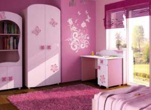 Meble dla dziewczynki BAGGI DESIGN CINDI różowe