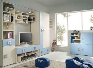 Meble młodzieżowe Dziecięce Zestaw mebli LABI C niebieskie