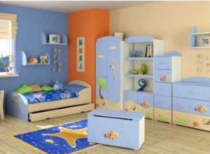Meble do pokoju dziecięcego BAGGI DESIGN BLUE LAGOON ZESTAW MEBLI 2