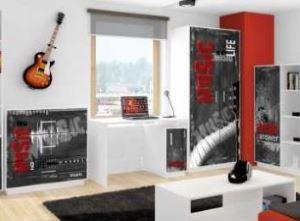Meble młodzieżowe BAGGI DESIGN MIX RED MUSIC