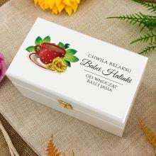 Zestaw herbat w drewnianym pudełku z nadrukiem dla babci - Odpoczynek