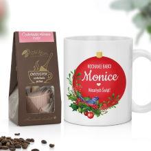 Kubek i czekolada na prezent dla babci na święta - Ukochana Babcia