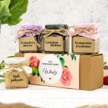 Zestaw prezentowy z konfiturami dla babci - Róża