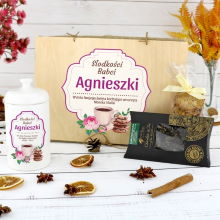 Zestaw prezentowy z nadrukiem na prezent dla babci - Słodkości