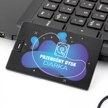 Pendrive personalizowany karta 32 GB na upominek dla niego - Przenośny Dysk