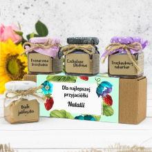 Zestaw naturalnych konfitur w pudełku dla przyjaciółki - Dla Najlepszej