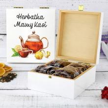 Zestaw herbat w skrzynce z nadrukiem - Herbatka Mamy