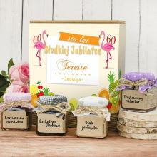 Zestaw naturalnych konfitur na prezent na 60 – Słodkiej jubilatce