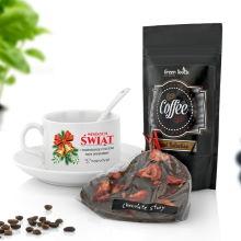 Filiżanka, kawa i czekolada na prezent - Aromatyczny Czas