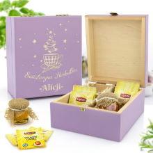 Zestaw prezentowy w skrzynce z grawerem - Świąteczna Herbatka