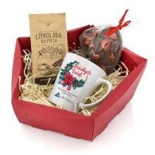 Kubek z nadrukiem i słodyczami na prezent - Słodkie Uznanie