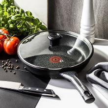 TEFAL Talent Pro 26 cm czarna - patelnia nieprzywierająca z pokrywką