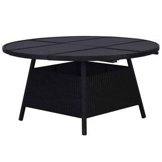 Czarujący stół ogrodowy viza 2q – czarny