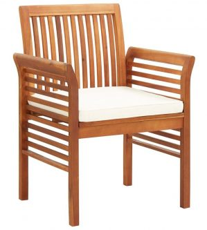 Krzesła ogrodowe akacjowe kioto 3x – 3szt