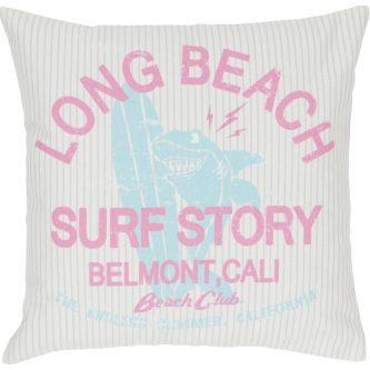 Dekoracyjna poduszka z napisami belmont 45×45
