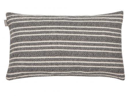 Dekoracyjna poduszka w paski winford 30×50 biało czarna