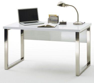 Białe biurko w wysokim połysku barney
