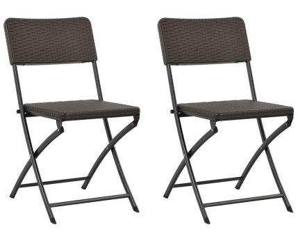 Składane krzesła ogrodowe otavio – 2 szt
