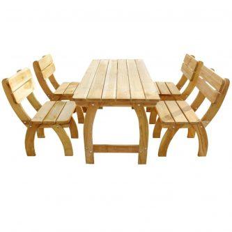 Zestaw drewnianych mebli ogrodowych darco 3x – brązowy