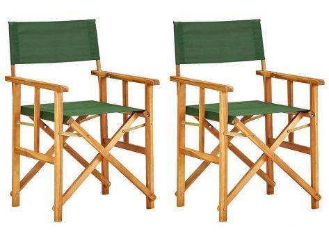 Krzesła reżyserskie składane zestaw martin -zielone