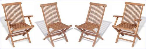 Drewniane krzesła ogrodowe soriano 2x – 2 szt