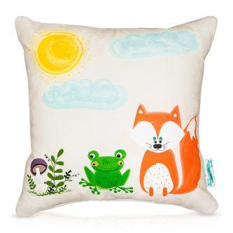 Dekoracyjna poduszka dziecięca ze zwierzątkami przyjaciele z lasu