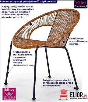 Nowoczesny fotel ogrodowy desio – rattanowy