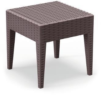 Kwadratowy stolik do ogrodu z tworzywa ipanema