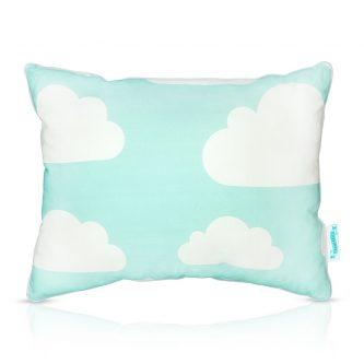 Dwukolorowa poduszka dekoracyjna dla dziecka chmurki