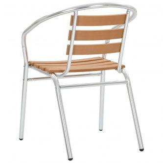 Zestaw metalowych krzeseł ogrodowych folind 2x – srebrny