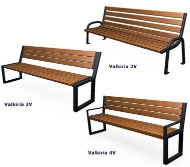 Nowoczesna industrialna ławka valkiria 3v – palisander