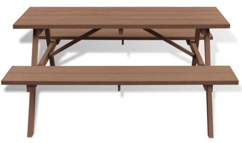 Stół ogrodowy z ławkami hint – brązowy