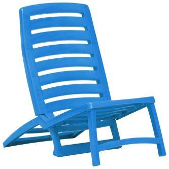 Komplet krzeseł plażowych lido – niebieski