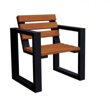 Fotel ogrodowy norin black – 8 kolorów wenge