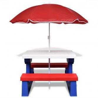 Stół piknikowy dla dzieci avec – wielokolorowy