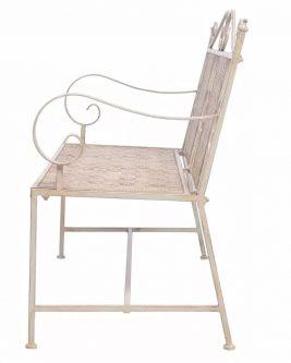 Metalowa ławka ogrodowa baldar – biała