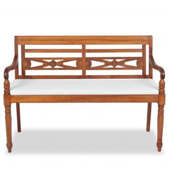 Drewniana ławka ogrodowa rea 2x – brązowa