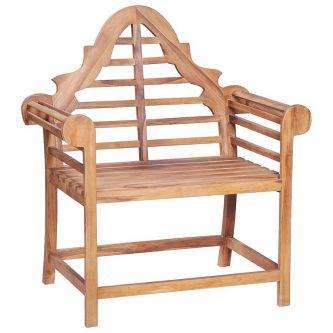 Drewniane krzesło ogrodowe niclos – brązowe