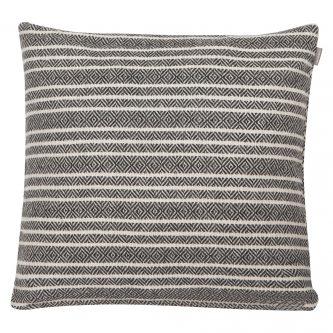 Dekoracyjna poduszka w paski winford 45×45 biało czarna