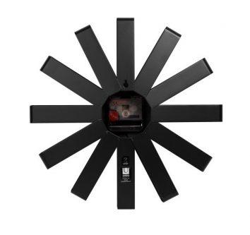 Metalowy zegar na ścianę ribbon