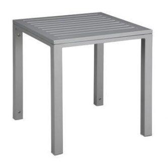 Metalowy stolik kawowy do ogrodu cubic