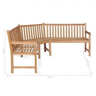 Ogrodowa ławka narożna katrina