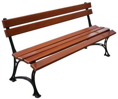 Żeliwna ławka ogrodowa helen 4x 150cm – 7 kolorów orzech