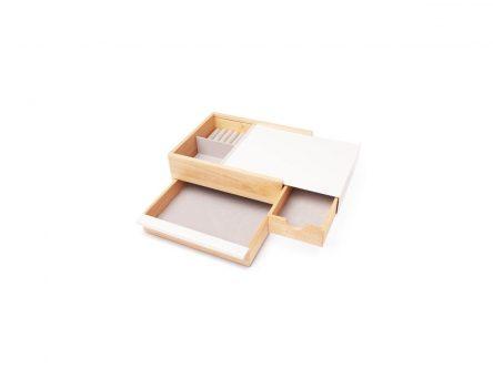 Drewniany organizer z szufladami stowit